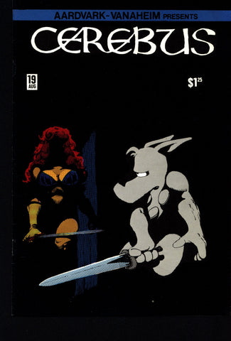 CEREBUS the Aardvark #19 DAVE SIM Aardvark-Vanaheim Fan Favorite Cult Self Published Alternative Conan the Barbarian Parody Comic Book