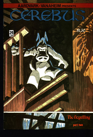 CEREBUS the Aardvark #24 DAVE SIM Aardvark-Vanaheim Fan Favorite Cult Self Published Alternative Conan the Barbarian Parody Comic Book