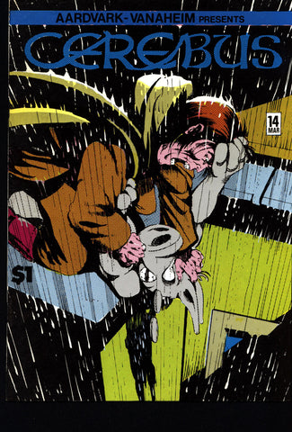 CEREBUS the Aardvark #14 DAVE SIM Aardvark-Vanaheim Fan Favorite Cult Self Published Alternative Conan the Barbarian Parody Comic Book
