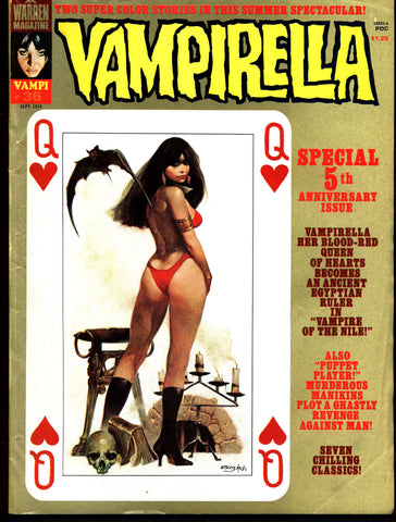 VAMPIRELLA  #36  Jose Gonzalez Rafael Auraleon Jose Ortiz Sexy Blood Sucking Vampire Cult Anti-Hero