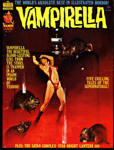 VAMPIRELLA  #48  Jose Gonzalez Rafael Auraleon Esteban Maroto Jose Ortiz Sexy Blood Sucking Vampire Cult Anti-Hero