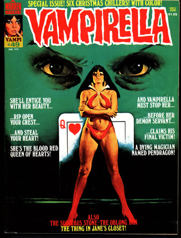 VAMPIRELLA  #49 Edgar Allan Poe Jose Gonzalez Rafael Auraleon Esteban Maroto Jose Ortiz Sexy Blood Sucking Vampire Cult Anti-Hero
