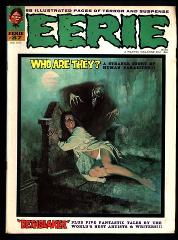 EERIE #37 Vintage Classic Horror Comic Warren Magazine Enrich Torres Ernie Colon Don McGregor Bruce Jones