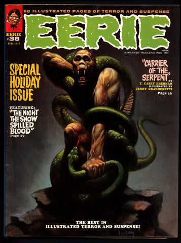 EERIE #38 Vintage Classic Horror Comic Warren Magazine MOTHMAN Sanjulian Esteban Maroto  Don McGregor Tom Sutton