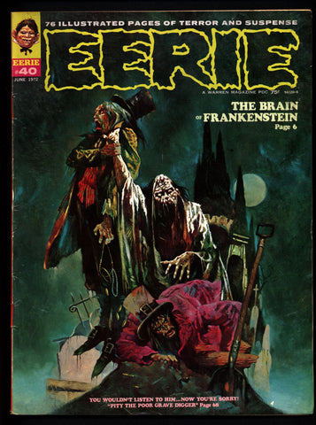 EERIE #40 Vintage Classic Horror Comic Warren Magazine DAX The Warrior Esteban Maroto Auraleon Mike Ploog