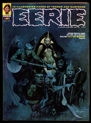 EERIE #41 b Vintage Classic Horror Comic Warren Magazine DAX The Warrior Esteban Maroto Auraleon Paul Neary