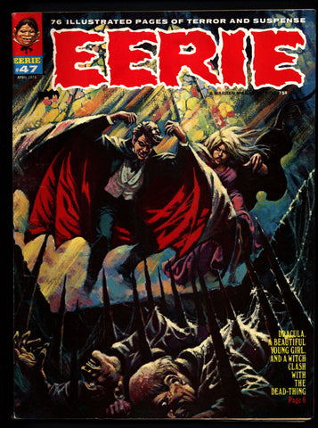 EERIE #47 DRACULA Vintage Classic Horror Comic Warren Magazine DAX The Warrior Esteban Maroto Sanjulian Marv Wolfman Tom Sutton