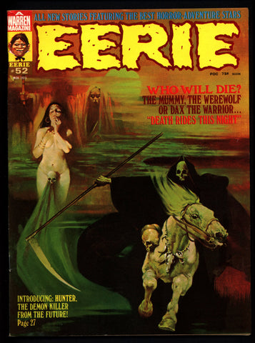 EERIE #52 The HUNTER DAX Maroto Dracula Werewolf Mummy Vintage Classic Horror Comic Warren Magazine Sanjulian