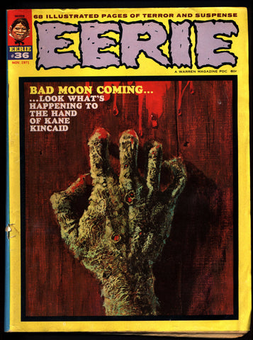 EERIE #36 Vintage Classic Horror Comic Warren Magazine Pablo Marcos Esteban Maroto Dave Cockrum Bruce Jones