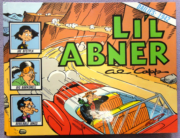 Al Capp L'IL ABNER #8 1942 Maurice Horn World War 2 Era Hardcover Kitchen Sink Newspaper Daily Comic Strips