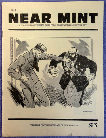 NEAR MINT #4 Pop Culture Nostalgia Fanzine Jack Burnley SUPERMAN Hal Foster Prince Valiant Tarzan Destination Moon Disney's Fantasia