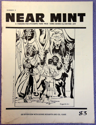 NEAR MINT #8 Pop Culture Nostalgia Fanzine TARZAN Burne Hogarth Gil Kane Interviews