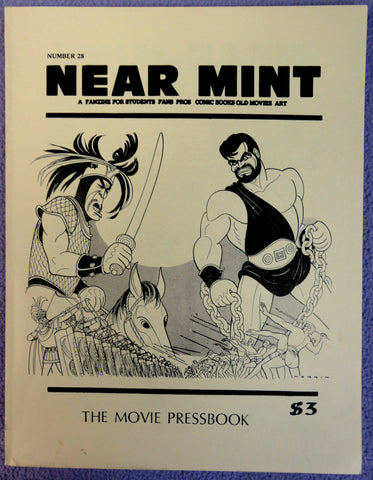 NEAR MINT #28 Pop Culture Nostalgia Fanzine Movie Pressbook BOGART Errol Flynn Robert Mitchum Hirshfield Alex Toth Jack Davis Hercules movie
