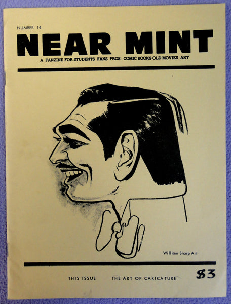 NEAR MINT #14 Pop Culture Nostalgia Fanzine Art of CARICATURE Clark Gable William Sharp Sam Berman Daerick Gross Woody Kimbrell Emery Clarke