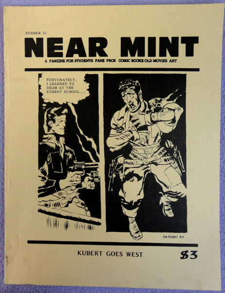 NEAR MINT #21 Pop Culture Nostalgia Fanzine Joe KUBERT Alabam story All-American Western Comics Index Buck Jones Firehair