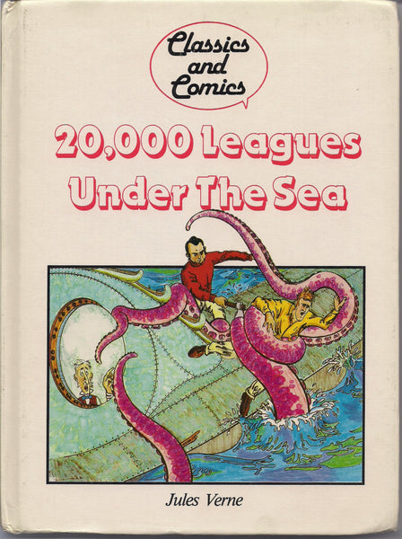 20,000 Leagues under the Sea JULES VERNE Comic Book & Text adaptation Hardcover Book