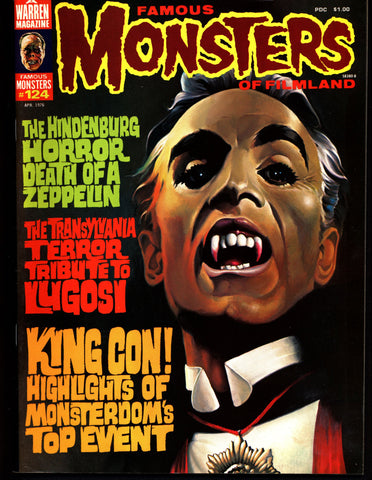 FAMOUS MONSTERS 124 The HINDENBURG Frankenstein Dracula Bela Lugosi Boris Karloff Christopher Lee Hammer Universal Studios