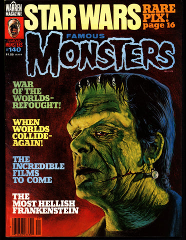 FAMOUS MONSTERS 140 Star Wars Science Fiction Fantasy Classic Frankenstein War of the Worlds When Worlds Collide George Pal