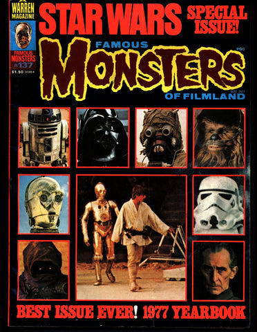 FAMOUS MONSTERS 137 Star Wars Science Fiction Fantasy Classic Kaiju Ghidrah Robert Bloch & POE Lighthouse Lee Lugosi Chaney
