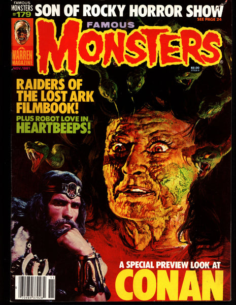 FAMOUS MONSTERS 179 Horror Science Fiction Fantasy CONAN Wolfen Indiana Jones Raiders of the Lost Ark Rocky Horror Shock Treatment Matheson