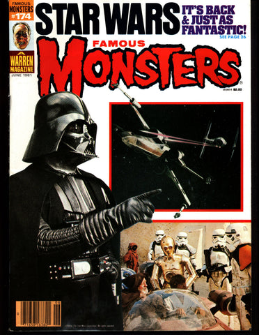 Famous Monsters 174 Horror Science Fiction Fantasy STAR WARS Sean Connery Outland The Howling Friday the 13th 2 HAMMER Vampire Movies