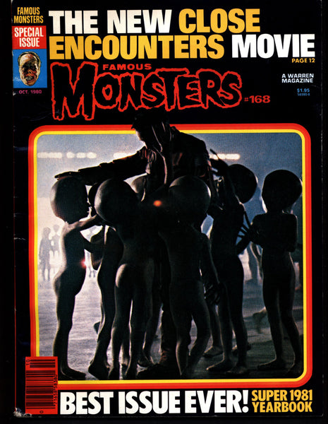 Famous Monsters 168 Horror Science Fiction Fantasy Steven Spielberg's CE3K Close Encounters of the 3rd Kind JAWS Gorgo KAIJU Giant Monsters