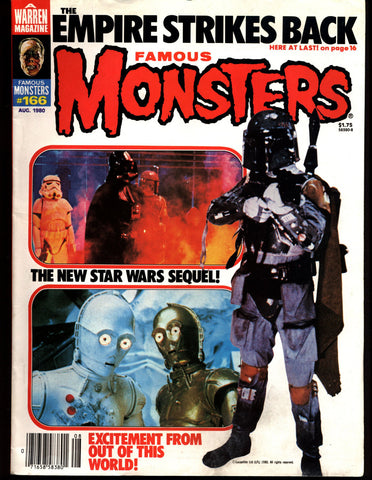 Famous Monsters 166 Horror Science Fiction Fantasy George Romero's Dawn of the Dead STAR WARS Empire Strikes Back ALIEN Bava Black Sunday