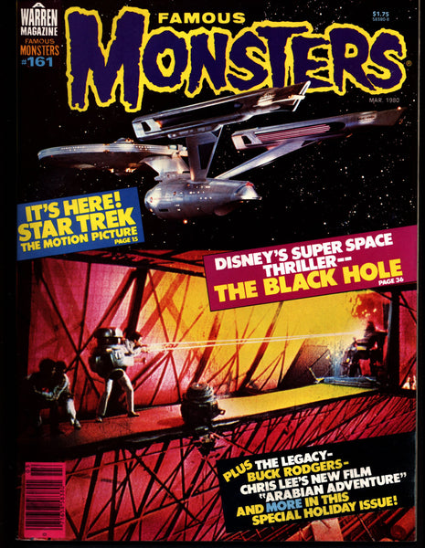 Famous Monsters 161 Horror Science Fiction Fantasy Star Trek the Motion Picture Buck Rogers on tv Disney BLACK HOLE Teenage Monster Movies