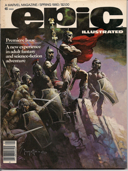 Marvel Comics EPIC ILLUSTRATED #1 b FRAZETTA Wendy Pini Jim Starlin Ernie Colón Arthur Suydam Leopoldo Durañona Mirko Ilic Carl Potts Larkin