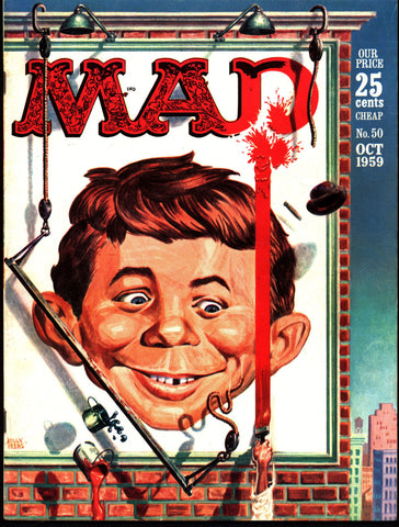 MAD MAGAZINE #50 1959 What Me Worry? Peter Gunn parody Alfred E Neuman Bill Elder Wally Wood Kelly Freas Don Martin Jack Davis Mort Drucker