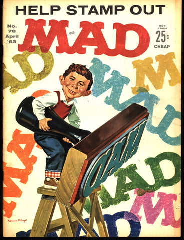 MAD MAGAZINE #78 1963 West Side Story What Me Worry? Alfred E Neuman Bill Elder Wally Wood Kelly Freas Don Martin Jack Davis Mort Drucker