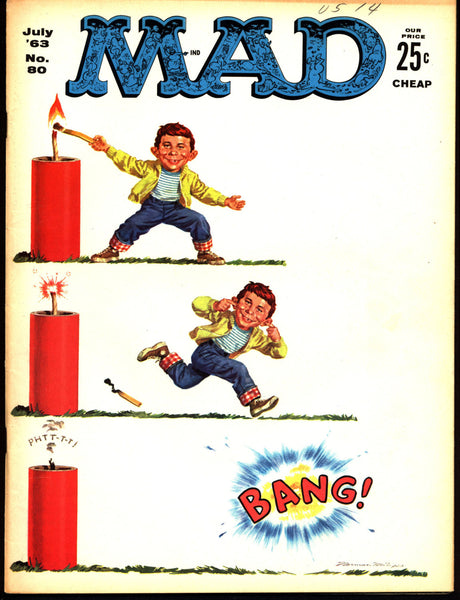 MAD MAGAZINE #80 1963 What Me Worry? Alfred E Neuman Bill Elder Wally Wood Kelly Freas Don Martin Jack Davis Mort Drucker