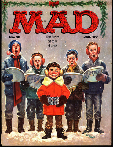 MAD MAGAZINE #52 1960 What Me Worry? CHRISTMAS Alfred E Neuman Bill Elder Wally Wood Kelly Freas Don Martin Jack Davis Mort Drucker