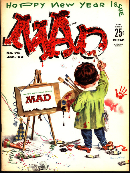 MAD MAGAZINE 76 1963 What Me Worry? 1st Sergio Aragonés Alfred E Neuman Bill Elder Wally Wood Kelly Freas Don Martin Jack Davis Mort Drucker