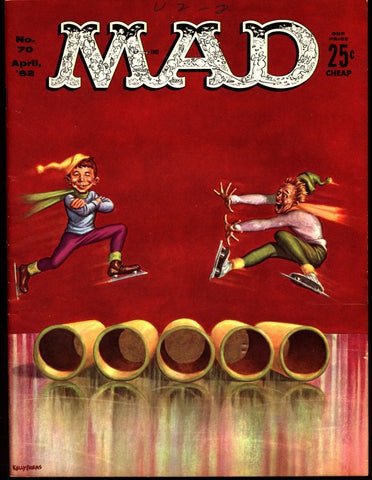 MAD MAGAZINE #70 1962 Route 66 TV Satire What Me Worry? Alfred E Neuman Bill Elder Wally Wood Kelly Freas Don Martin Jack Davis Mort Drucker