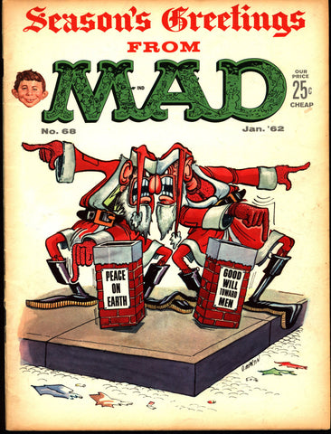 MAD MAGAZINE #68 1962 Christmas What Me Worry? Alfred E Neuman Bill Elder Wally Wood Kelly Freas Don Martin Jack Davis Mort Drucker