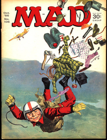MAD MAGAZINE #106 1966 FRAZETTA Tarzan What Me Worry? Alfred E Neuman Bill Elder Wally Wood Kelly Freas Don Martin Jack Davis Mort Drucker