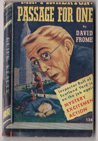 Mr. PINKERTON Passage For One David Frome Inspector Bull SCOTLAND YARD Royce Quick Readers #134 Trashy Crime Mystery Pulp Fiction 1945