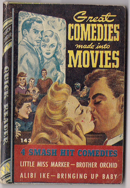 Comedies Made into Movies BRINGING UP BABY Little Miss Marker Brother Orchid Bogart Alibi Ike Royce Quick Readers #143 Pulp Fiction 1945