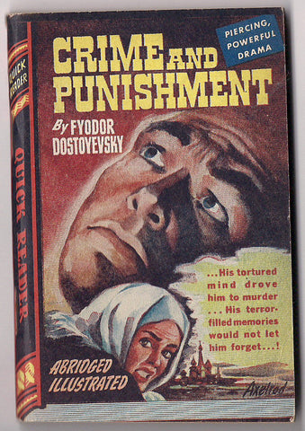 CRIME and PUNISHMENT Fyodor Dostoyevsky Peter Lorre Royce Quick Readers #114 Classic Insanity Murder Mystery Crime Noir Pulp Fiction 1944