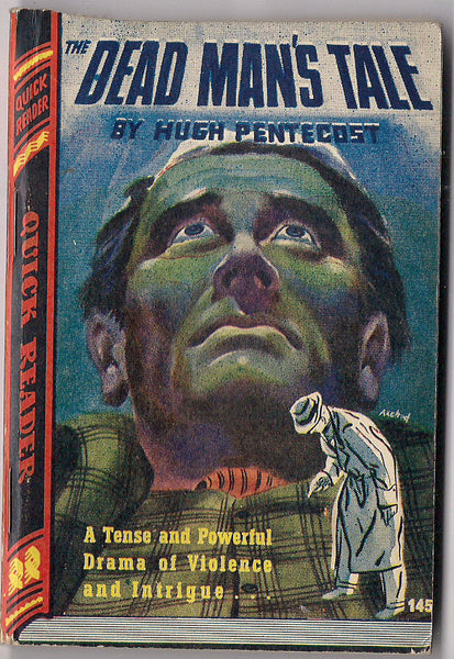 DEAD MAN'S TALE Hugh Pentecost Royce Quick Readers #145 Trashy Noir Murder Crime Pulp Fiction 1945