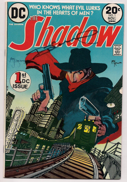 DC Comics The SHADOW #1 SIGNED by Michael W Kaluta and Dennis O'Neil 1973 Very Fine