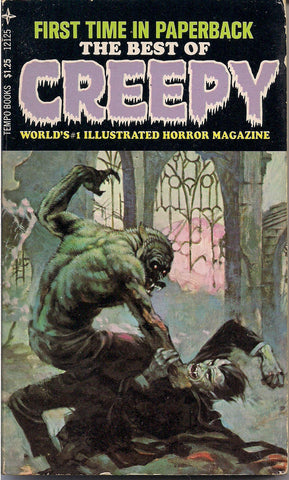 Best of CREEPY Frank FRAZETTA Al Williamson Reed Crandall Wally Wood Alex TOTH Steve Ditko Warren Magazine Horror Comics Paperback 1971