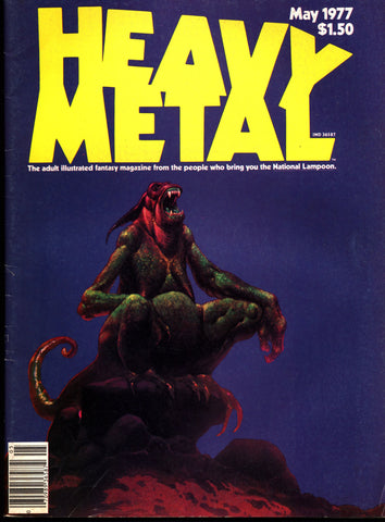 "HEAVY METAL #2 May 1977 DRUILLET Bodé Sunpot  Jean ""Mœbius"" Giraud Harzak Richard Corben Den Tardi Caza Adult Fantasy Illustration"