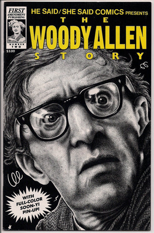 He Said/She Said Comics The WOODY ALLEN Mia Farrow Story Barney Dunn Phil Avelli Soon-Yi PinUp Poster in color