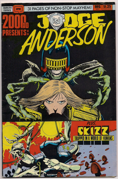 2000 AD Judge Anderston #5 Skizz ALAN MOORE Alan Grant John Wagner Jim Baikie Mike White Cyberpunk Post Apocalyptic Illustrated Action