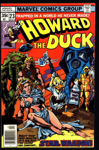 Marvel Comics HOWARD the DUCK 23 Star Wars Parody Man-Thing Steve Gerber Gene Colan Existential Anthropomorphic Funny Animal Social Satire