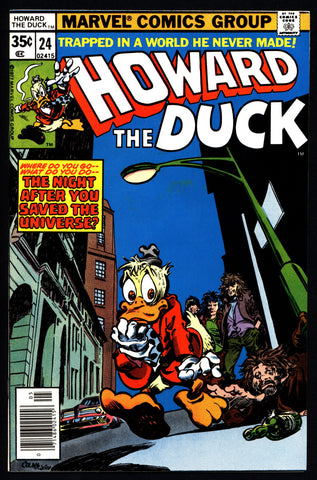 Marvel Comics HOWARD the DUCK 24 Star Wars Parody Man-Thing Steve Gerber Gene Colan Existential Anthropomorphic Funny Animal Social Satire