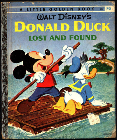 Walt Disney's DONALD DUCK Lost and Found Little Golden Book D86 with Mickey Mouse & Goofy Childrens Kids Book