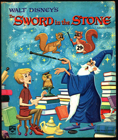 Walt Disney's the Sword in the Stone Tip Top Tales 2459 T.H. White Camelot King Arthur Merlin Movie Adaptation Childrens Kids Book